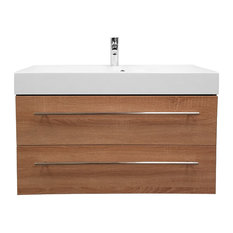 Modern Bath Vanity Model Concetto 8800, Elm Finish, 28""