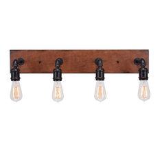 Toltec Lighting 1134-AT18 Portland - Four Light Bath Bar