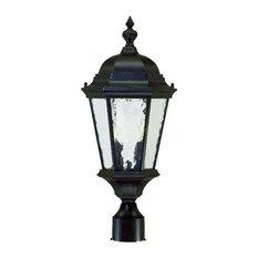 Telfair Collection Post-Mount 2-Light Outdoor Light, Marbleized Mahogany