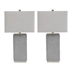 """Amergin Grain 28"""" Poly Table Lamp Set of 2"""
