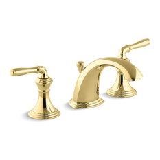 Kohler Devonshire Widespread Bathroom Sink Faucet, Vibrant Polished Brass