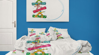 Kids Snowboard Comforter from Extremely Stoked Kids Bedding Company
