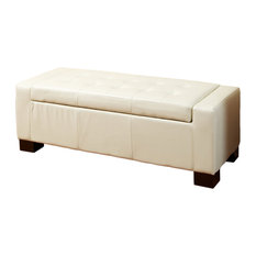 gdfstudio rothwell leather storage ottoman bench accent and storage benches