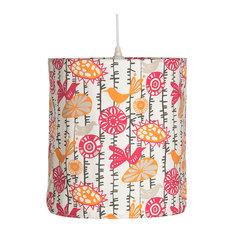 Calliope Birds Hanging Drum Shade