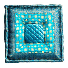 "LIFESTYLE - Sumatra 18""x18"", Turquoise - Floor Pillows and Poufs"