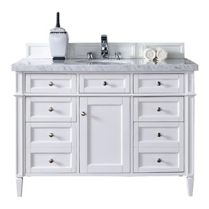 """Brittany 48"""" Single Vanity Cottage White, Base Cabinet Only"""