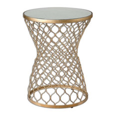 Naeva End or Side Table in Gold Leaf