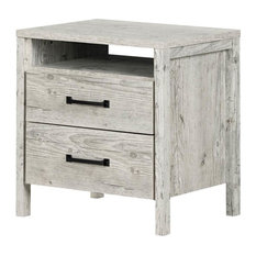 South Shore Furniture - South Shore Gravity 2-Drawer Nightstand, Seaside Pine - Nightstands and Bedside Tables