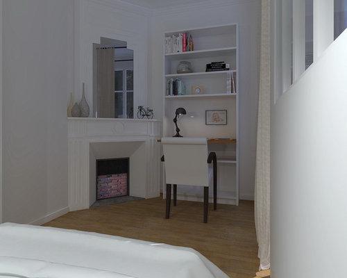 Création d\'un couloir dans une chambre en enfilade