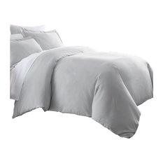 Becky Cameron Premium Ultra Soft Luxury Duvet Set, Twin/Twin Xl, Light Gray