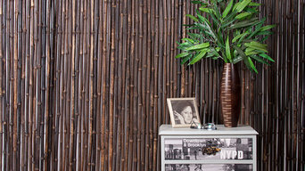 black bamboo roll screen