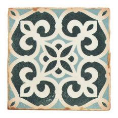 "4.88""x4.88"" Chronicle Ceramic Floor/Wall Tiles, Bakula"