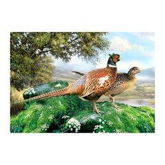 Tuftop Large Textured Worktop Saver, Pheasants, 50x40 cm