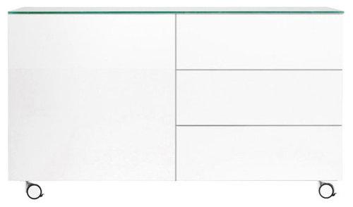Arctic 50 Sideboard 3L & 1D, Vit - Kommoder
