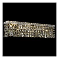 Elegant Lighting 2033W26C-GT Maxime 6-Light Crystal Vanity Light - MultiColor