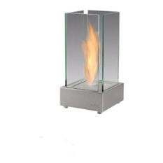 Eco-Feu Cartier Biofuel Fireplace in Stainless Steel