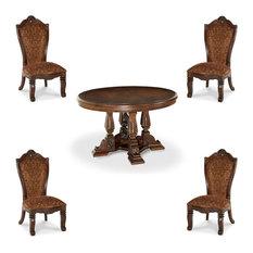 Windsor Court Round Dining Table Set 5-Piece Set
