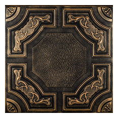 Evergreen, Styrofoam Ceiling Tile, 20x20, # R28c, Black Gold
