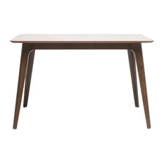 GDF Studio Elsinore Finished Wood Dining Table, Natural Walnut