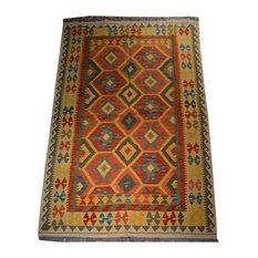 """Tribal Afghan Oriental Rug, 5'x6'9"""""""