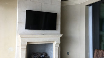 Fireplace Tv hang  75 inch