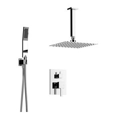 Davis Shower Set, Two Functions, Polished Chrome