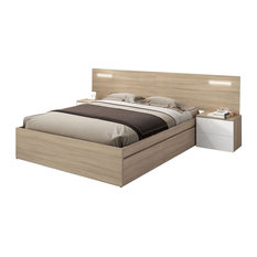 Dreams Headboard With 2 Bedside Tables and LED Lights
