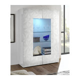 Prisma (white) 2 door display unit