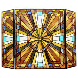 Craftsman Fireplace Screens by CHLOE Lighting, Inc.