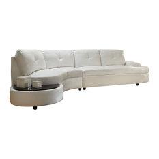 Coaster Fine Furniture   Coaster Talia Bonded Leather Sectional Sofa, White    Sectional Sofas
