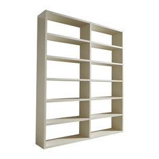 Torero Double Bookcase, White