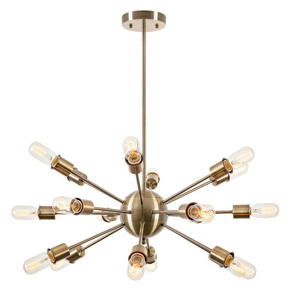 Sputnik Chandelier, Brass