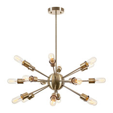 LIGHT SOCIETY - Sputnik 18-Light Chandelier, Brass - Chandeliers