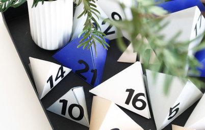 Hazlo tú mismo: Un calendario de adviento de pirámides de colores
