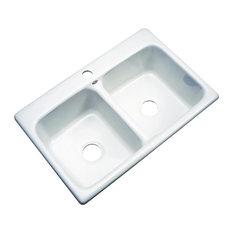 Charleston 1-Hole Kitchen Sink, White