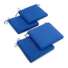 "20""x19"" Twill Chair Cushion, Set of 4, Royal Blue"
