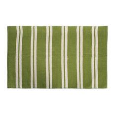 Double Cabana Stripe Rug 30X48 Green
