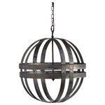 A&B Home - Kenzo Chandelier, Antique Silver - The Kenzo Chandelier from A&B Home is the perfect piece to Light your home. The 100% galvanized material coupled with antique silver finishes fit the contemporary style perfectly to make a designer statement in your home.