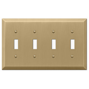 Century Steel 4-Toggle Wall Plate, Brushed Bronze
