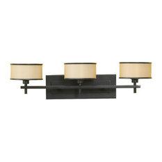 Feiss 3-Light Vanity Fixture, Dark Bronze