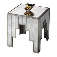 butler butler willis mirrored side table side tables and end tables