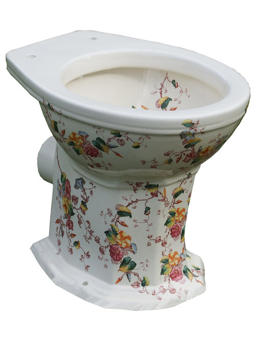 Floral Patterned Victorian Toilet