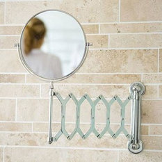 - Chrome Wall Mounted Extendable Mirror x2 Magnification - Makeup Mirrors
