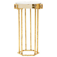 Bungalow 5 Prism Round Side Table - Gold