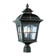 3-Light Post Lantern, Antique Rust