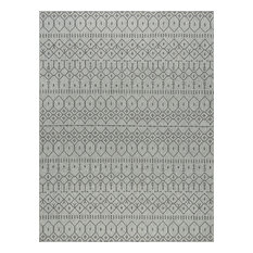 Elsa Modern Solid Charcoal Rectangle Area Rug, 8.8' x 12'