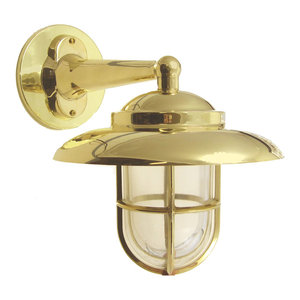 Nautical Outdoor Wall Sconce (Solid Brass / Indoor / 10+ Finishes), Unlacquered