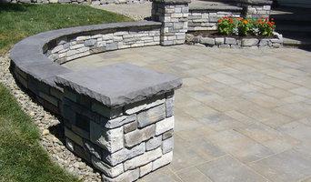 Eric & Alisa's Stone Seat Walls & Columns
