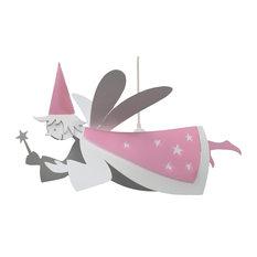 Fairy Pendant Light, White and Light Pink