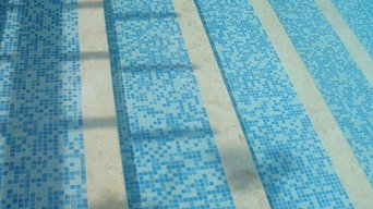 Coral Stone Pool Treads